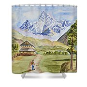 Mountains And Valley Shower Curtain