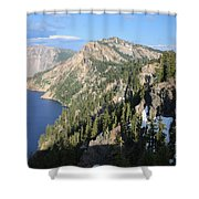 Mountains Around Crater Lake Shower Curtain