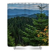 Mountains Around Priest Lake Shower Curtain
