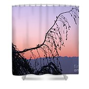 Mountains At Dusk Shower Curtain