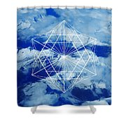 Mountains, Clouds And Geometry Shower Curtain