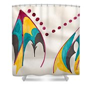 Mountains Echoing Shower Curtain