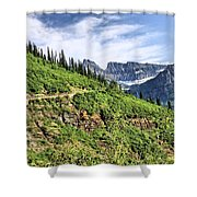 Mountains In Glacier National Park 1 Shower Curtain