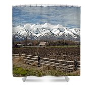 Mountains In Logan Utah Shower Curtain
