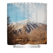Mountains In The Background Xvi Shower Curtain