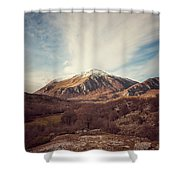 Mountains In The Background Xvii Shower Curtain