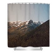 Mountains In The Background Xviii Shower Curtain