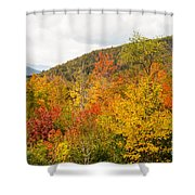 Mountains In The Fall Colors Shower Curtain