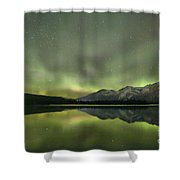 Mountains In The Northern Lights Shower Curtain