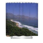 Mountains Meet Ocean On The Garden Shower Curtain