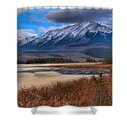 Mountains Over Talbot Shower Curtain