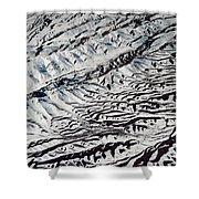 Mountains Patterns. Aerial View Shower Curtain