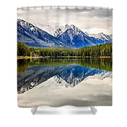 Mountains Reflected In The Lake Shower Curtain
