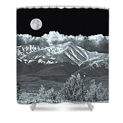 Mountains, When High Enough And Tough Enough, Measure Men.  Shower Curtain