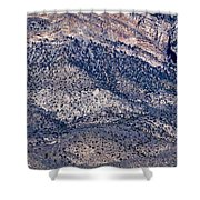 Mountainside Abstract - Red Rock Canyon Shower Curtain