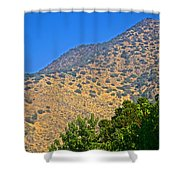 Mountainside From Wealthy Neighborhood Above Santiago-chile Shower Curtain