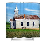 Mountain View Church Shower Curtain