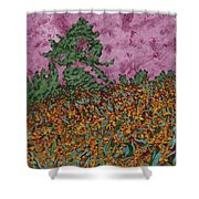 Mountbretia Evening Shower Curtain