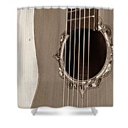 Mounted 6 String Shower Curtain