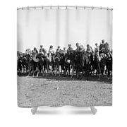 Mounted Guard, 1921 Shower Curtain