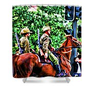 Mounted Infantry Shower Curtain