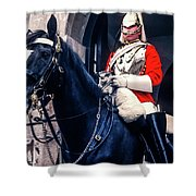 Mounted Life Guard Shower Curtain