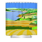 Mounts Bay Cornwall Shower Curtain