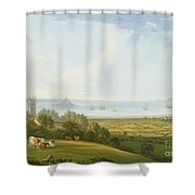 Mounts Bay From Ludgvan Shower Curtain