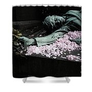 Mourner Statue Shower Curtain