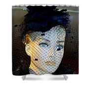 Mourning Millicent Shower Curtain