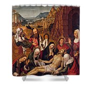 Mourning Over The Dead Body Of Christ Shower Curtain