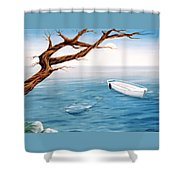 Mourning Spring Shower Curtain