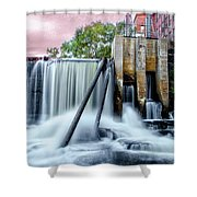 Mousam River Waterfall In Kennebunk Maine Shower Curtain