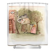 Mouse Family Shower Curtain