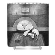 Mouse Hole Shower Curtain
