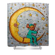Mouse On The Moon Shower Curtain