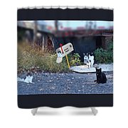 Mouse Patrol Shower Curtain