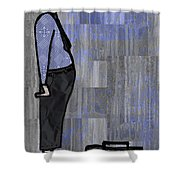 Moustache Salesman Shower Curtain