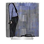 Moustache Salesman Shower Curtain