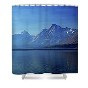 Moutains In Blue Shower Curtain