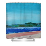 Mouth Of The River Exe Shower Curtain