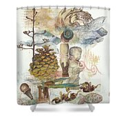 Move Along Shower Curtain