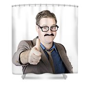 Movember Man Proud Of His Moustache Shower Curtain