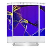 Movement In Blue Shower Curtain