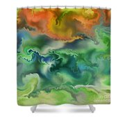 Movement Of The Natural World Shower Curtain