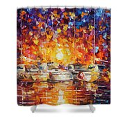 Movement Of The Sea Shower Curtain