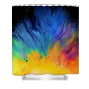 Movements In Color Shower Curtain