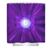 Moveonart Abstract Cross In Purple Shower Curtain