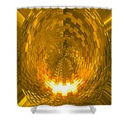 Moveonart Abstract Retro Light Action 1 Shower Curtain