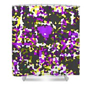 Moveonart Abstract Visual Therapy With Purple Heart Shower Curtain